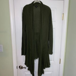 Olive knit duster